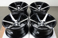 15 4x100 Black Effect Rims Fits Cobalt Low Offset Civic Protege Mr2 4 Lug Wheels