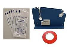 PORK SAUSAGE MEAT PACKING KIT- TAPE MACHINE, TAPE, 200 1LB PORK SAUSAGE BAGS