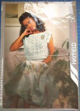 Hayfield Women's Lace Top Sweater Knitting Pattern 2234