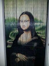 Mona Lisa Beaded Bamboo Curtains Decor Panels Wall  Art Window Doorway Doors