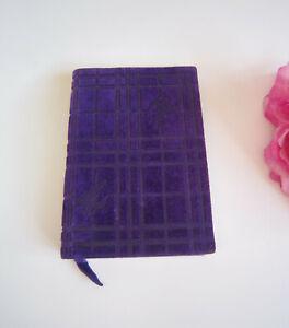 Burberry designer suede notebook/pocket book. Mint.Beautiful.