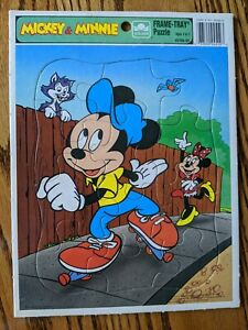 Mickey & Minnie 12 piece cardboard vintage puzzle by Golden, ages 3-7, 4510A-54