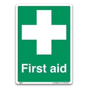 First Aid Sign - Self-adhesive Vinyl Sticker - Emergency Equipment Safety