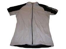 NEUF 4 sports femmes manches courtes Vélo Haut gr. M 40/42 Blanc-Noir
