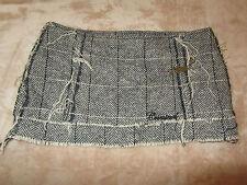 Gris & Blanc Laine Chevron criminel Micro Mini Jupe En Taille 12-W32