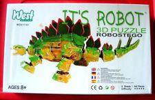 E'ROBOT robostego 342 PC 3-D/3D PUZZLE NUOVO SIGILLATO Dinosauro Stegosauro