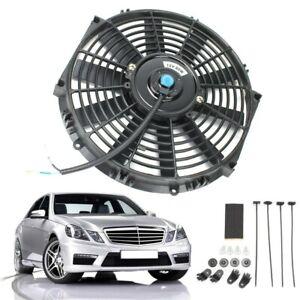 10 80WCar Electric Radiator Intercooler Straight Cooling Fan Push Pull 12V