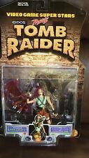 LARA CROFT TOMB RAIDER VIDEO GAME SUPERSTARS TOY BIZ 1997 NOC FIGURE