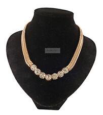 Chunky Gold Multi Crystal Gem Diamante Jewellery Necklace