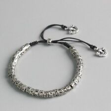 Antiqued Metal Amulet Bracelet Beads Unique Traditional Tibetan Buddhism Mantra