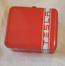 Tesla Motors Lunchbox Lunch Tin ~ Original Collectible New Vintage Style