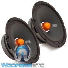 "2 MEMPHIS SRXP82 8"" 350W COMPONENT PRO MIDRANGE SPL SPEAKERS CAR AUDIO PAIR NEW"
