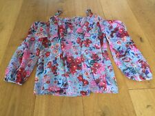 MARKS AND SPENCER PER UNA LADIES STUNNING BLUE FLORAL STRAPPY TOP SIZE 12