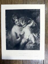P. Lightfoot / W. Hilton - Cupid armed  Cupidon armé ENGRAVING  Gravure c1850