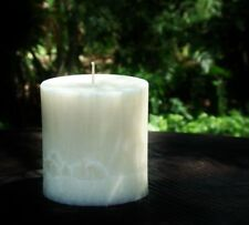 70hr Coco Chanel Type Scented Oval WHITE IVORY NATURAL CANDLE + FREE SHIPPING