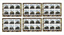 2018 TANKS OF WWII 10 SOUVENIR SHEETS UNPERFORATED WAR MILITARY