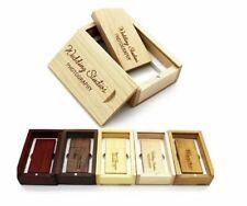 Wooden Usb Flash Drive Usb+box Pendrive 8gb 16gb 32g Custom Logo Wedding Gift