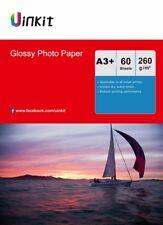 A3 Plus A3+ 260Gsm High Glossy Photo Paper Inkjet Paper Printer - 60 Sheet 13x19
