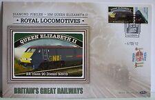 2012 Limited Edition Benham Diesel Train Railway Cover - Queen Elizabeth 11
