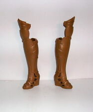BARBIE & DC Wonder Woman Doll Gold Knee High Boots Shoes for Articulated Dolls