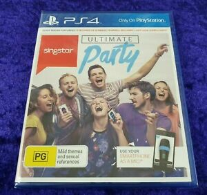 ps4 SINGSTAR ULTIMATE PARTY *NEW* Singing/Karaoke REGION FREE PS5 Compatible