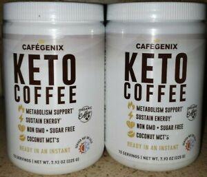 2 PACK  CAFÉ GENIX KETO COFFEE, 7.93 OZ. EACH BY NUTRITION WORKS