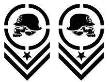 "METAL MULISHA CHEVRON MOTOCROSS^ Car Decal/Sticker, 2 PCS,14"" x 8.4"" BLACK MATTE"