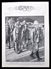 GLOUCESTER REGIMENT BRITISH ARMY SOLDIERS ON BOARD HMS SUFFOLK MALTA PRINT 1912