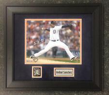 Detroit Tigers Starting Pitcher Anibal Sanchez Signed 8X10 Framed Photo w/ COA
