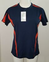 NWT FSP Women's Athletic Shirt Orange Blue Size Small Fast Sustainable Products