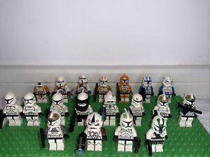 x18 Genuine LEGO Star Wars Storm Trooper/ Clone Trooper Minifigures Bundle