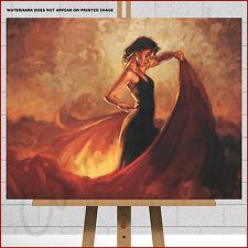 Mark Spain Spanish Flamenco Dancer Large Framed Box Canvas Print Wall Art Tango