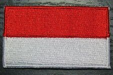 INDONESIA Indonesian Country Flag Embroidered PATCH Badge *NEW*