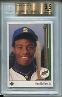 1989 Upper Deck Baseball #1 Ken Griffey Jr Rookie Card Graded BGS Gem Mint 9.5