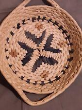 Vintage Southwest Tray Basket With Handles & Starburst Design. * Free S & H *