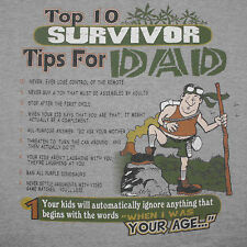 Dad Top 10 List T-Shirt XXL Survivor Parent  Advice Joke Funny Novelty Humor