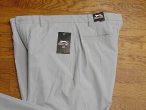 Slazenger New Light Gray Flat Front Tech Hydro-Dri Golf Pants Size 36 X 30