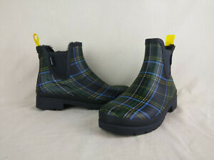 Tretorn Lina 2 Night Multi Plaid Waterproof Chelsea Rain Boot Women's Size 7 US