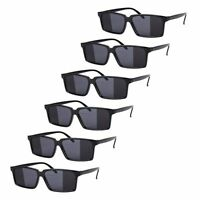 6 x Black Mirror Rear View Spy Glasses Party Stock Filler Summer Toy By Kriman