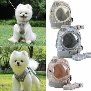 Pet Puppy Leash Control Harness Soft Mesh Walk Collar Safety Strap Vest
