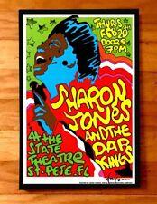 Sharon Jones Dap Kings rare Concert Gig Poster Signed #d Fl Soul R&B Funk