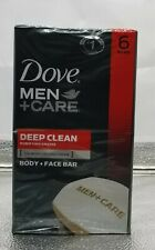 BUY-6 Dove Men + Care DEEP CLEAN Purifying Body & Face Soap 4oz EACH