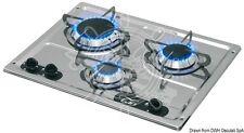 Can 3-Burner Stainless Steel Flush-Mount Hob 470 x 360 mm