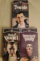 Universal Monsters VHS X 3 Dracula, Son Of Dracula, Dracula's Daughter
