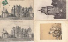Lot 4 cartes postales anciennes ELVEN château de kerfily