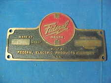 Vintage FEDERAL NOARK Cast BRONZE Electric Panel FUSE BOX NAMEPLATE