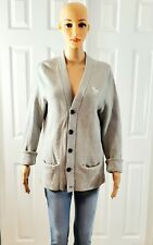 Abercrombie & Fitch Gray Cardigan Women size M Sweater Button Down Long Sleeve