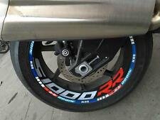 S1000RR Wheel Rim 3D Reflective Stripes Sticker Decal Front + Rear Set For BMW
