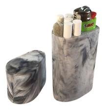 Smoke Space - Cigarette Case - Lighter - Smoking Accessories - (Black/White)