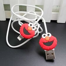 USB Data Cable Charger Cable Sync Cord with Sesame Street Elmo for iPhone 5/6